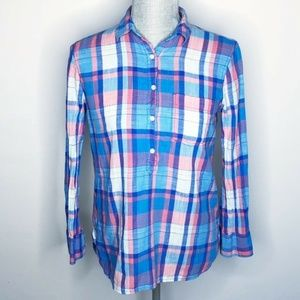 J. Crew Top Button Down Plaid Long Sleeve (N83)